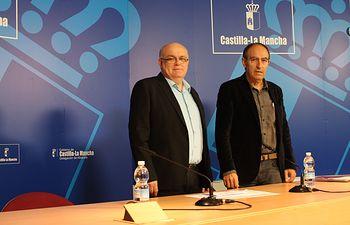 el delegado de la Junta, Pedro Antonio Ruiz Santos y el director provincial, Nicolás Merino