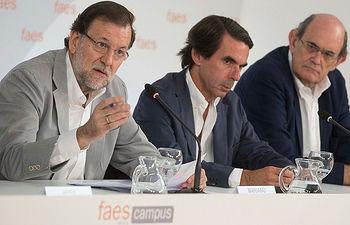 Mariano Rajoy durante su intervención en la clausura del Campus FAES 2015