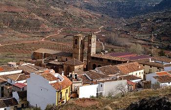 Vista de la ciudad de Alcaraz en Albacete. Paso de la Ruta del Quijote.