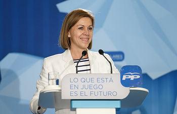 María Dolores de Cospedal en Guadalajara.