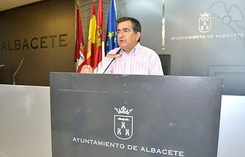 Ramón Sotos en rueda de prensa.