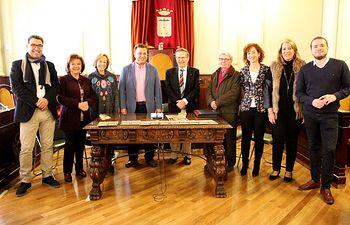 Recepción participantes  XXXVII Concurso Nacional de Jóvenes Pianistas 'Ciudad de Albacete'