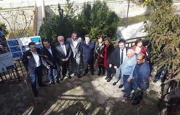 Fotografía de la visita del presidente de Castilla-La Mancha, Emiliano García-Page a Nerpio y del apoyo institucional mostrado a la promoción de la Nuez.