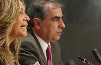 Trinidad Jiménez y José Martínez Olmos