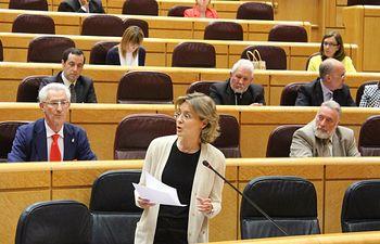 García Tejerina, en el Senado. Foto: Ministerio de Agricultura, Alimentación y Medio Ambiente