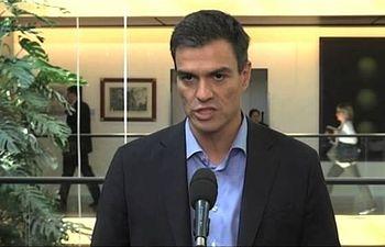 """Pedro Sánchez: """"Estamos muy lejos de votar 'sí' a la Comisión Europea propuesta de Juncker"""""""