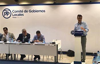 Antonio Román, en el Comité de Gobiernos Locales del PP