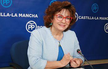 Riolobos en rueda de prensa en las Cortes de CLM