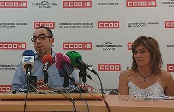 Paco de la Rosa y Carmen Juste.