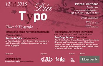 """La Asociación de Diseñadores de Albacete organiza el """"Día Typo"""", un taller de tipografía"""