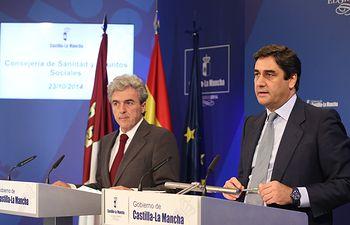 Esteban y Echániz informan del Consejo de Gobierno 231014 II. Foto: JCCM.