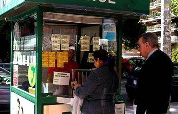 Kiosko de la ONCE. Foto de Archivo.