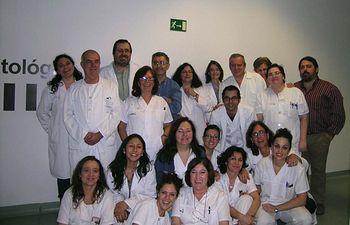 Equipo de Anatomía Patológica del Hospital de Ciudad Real. Foto: JCCM.