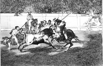 Grabado de Goya - Tauromaquia.