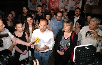 Pegada de carteles- PSOE Guadalajara.