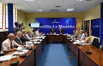 La consejera de Economía, Empresas y Empleo, Patricia Franco, preside la reunión del Consejo de Administración del Instituto de Promoción Exterior (IPEX). Foto: JCCM.