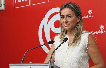 Milagros Tolón, portavoz de Empleo del PSOE de Castilla-La Mancha.