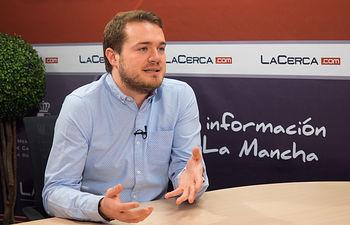 Manuel Martínez, secretario general de Juventudes Socialistas en la provincia de Albacete y concejal del Grupo Municipal PSOE en el Ayuntamiento.