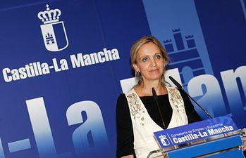 Carmen Casero en rueda de prensa I. Foto: JCCM.