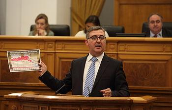 Marcial Marín en Pleno Cortes (18-09-14) II. Foto: JCCM.