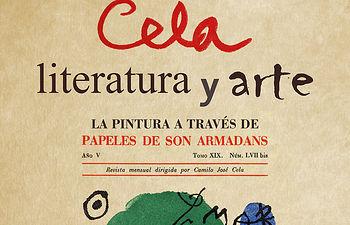 Cartel Exposición Cela Literatura y Arte.