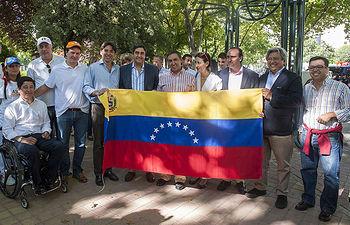 Manifestación por la liberación de los presos políticos en Venezuela
