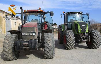 hurto de dos tractores agrícolas