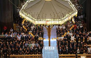 Misa en la Sagrada Familia por las víctimas de los atentados en Cataluña.