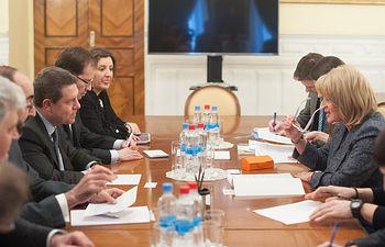 Encuentro con la viceministra rusa de Cultura.