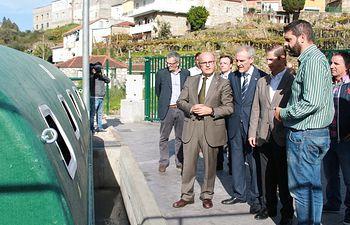 Visita depuradora Pontebarxas y río Troncoso. Foto: Ministerio de Agricultura, Alimentación y Medio Ambiente