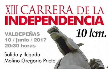 El martes finaliza el plazo de inscripción para la XIII Carrera de la Independencia