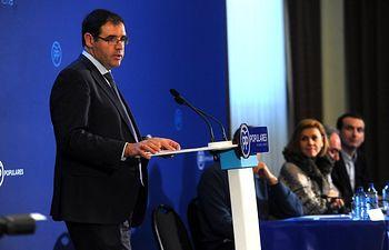 Benjamin Prieto durante su intervención en la Junta Directiva Provincial del PP de Cuenca