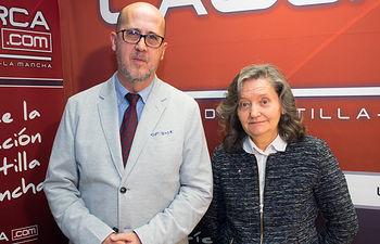 Francisco Pérez, presidente de Cruz Roja en Albacete, y Emilia Lara, presidenta provincial de Cruz Roja en Albacete.