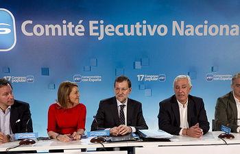 En la imagen de archivo, algunos de los miembros del Comité Ejecutivo Nacional del PP.