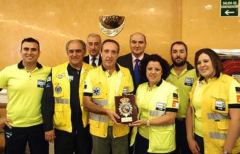 El servicio de Urgencias, Emergencias y Transporte Sanitario, reconocido por su colaboración con la Policía Nacional. Foto: JCCM.
