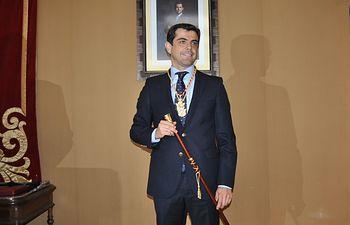 Javier Cuenca tras la toma de posesión como alcalde de Albacete.