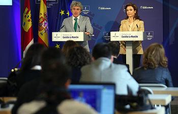 Leandro Esteban y Marta García-2. RP Consejo de Gobierno_270314. Foto: JCCM.