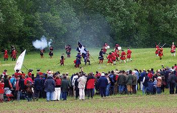 El 25 de abril, mediante una recreación, los almanseños celebran el aniversario de la Batalla de Almansa.