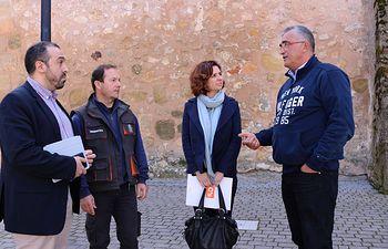 Orlena De Miguel y Antonio De Lamo con miembros de la plataforma No al Trasvase