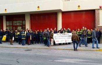 Imagen de las concentraciones en Correos Albacete de este mes de abril