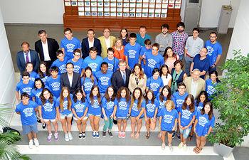 Alumnos y responsables de la UCLM y de los Campus Científicos de Verano.