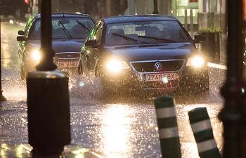 Lluvia en Albacete. Foto de Archivo.