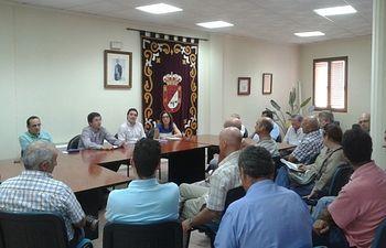La reunión de la Comisión de Agricultura en Madrigueras.