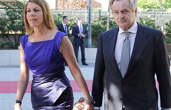 María Dolores Cospedal e Ignacio López del Hierro. Archivo.