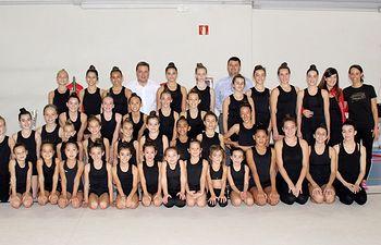 Visita equipo competición de Gimnasia Rítmica del Club 'Palas' Albacete
