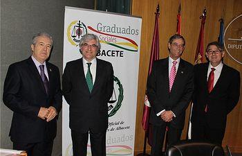 El diputado Félix Diego Peñarrubia inaugura las Jornadas Laboralistas de Derecho del Trabajo en el Salón de Actos de la Diputación