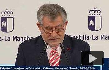 JCCM: Rueda de prensa del consejero de Educacíon sobre asuntos tratados en el Consejo de Gobierno