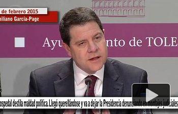 PSOE: Cospedal destila maldad política. Llegó querellándose y va a irse con montajes judiciales