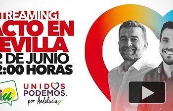 IU: Acto Unidos Podemos en Sevilla: Antonio Maíllo y Alberto Garzón