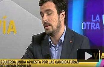 "IU: Entrevista a Alberto Garzón en ""La Otra via"" (V Televisión 19.06.2015)"